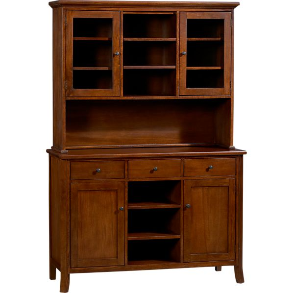 Cabria II Honey Brown Buffet with Hutch Top