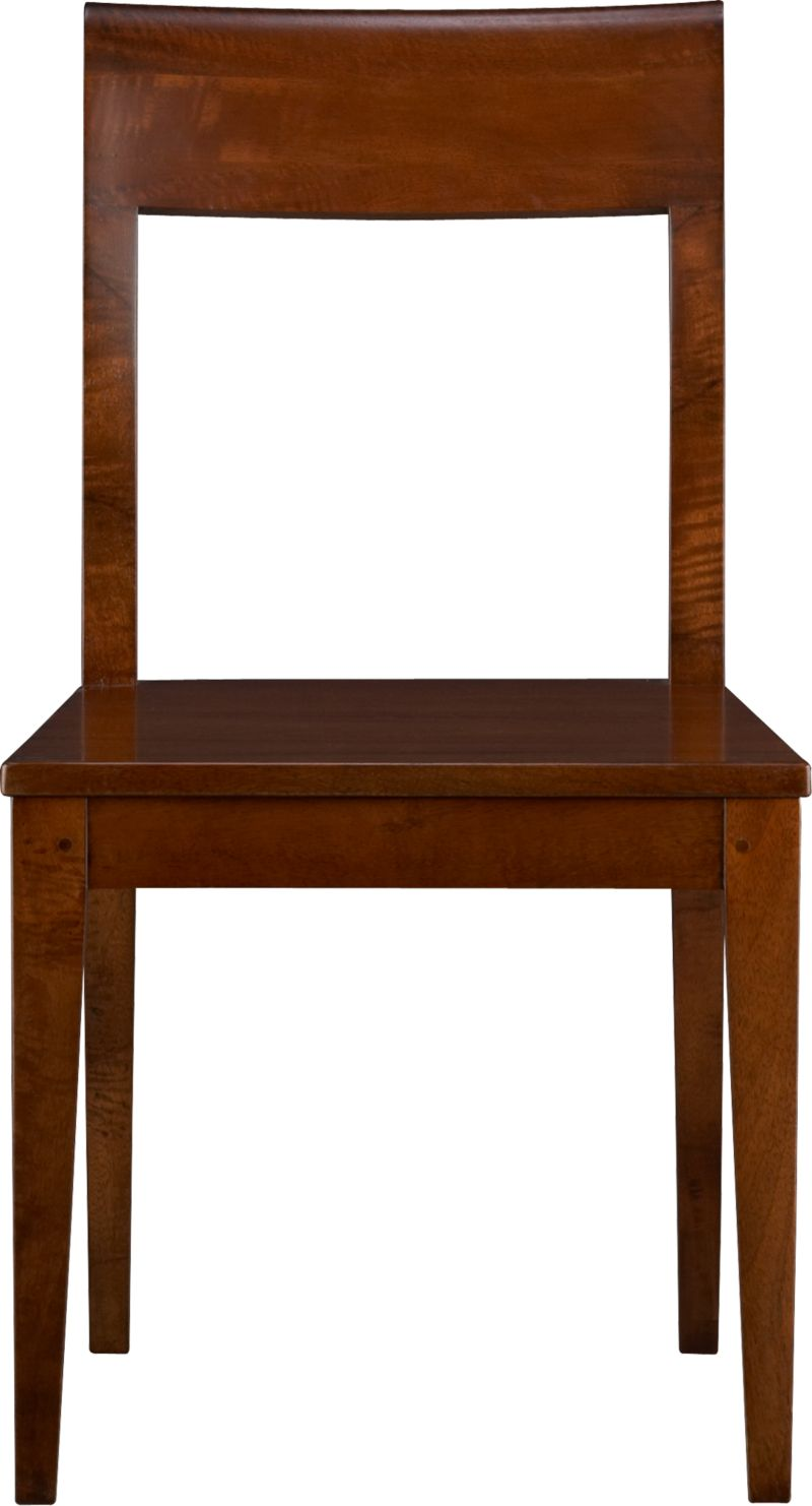 The rustic character and bold grain of warm, auburn mango wood take a refined turn in our tropical rendition of the Parsons style chair. Mango is an eco-friendly choice whose timbers are harvested only after the tree's short, fruit-bearing life. Back is curved for comfort.<br /><br /><NEWTAG/><ul><li>Sustainable solid mango wood</li><li>Clear protective lacquer</li><li>Nylon floor protectors</li><li>Made in Indonesia</li></ul>