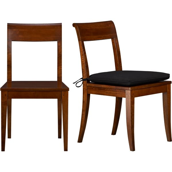 Cabria Honey Brown Side Chair and Cushion