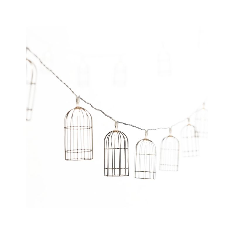 Metal Bird Cage String Lights : Page Not Found Crate and Barrel
