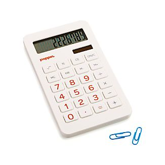 Poppin ® White Calculator
