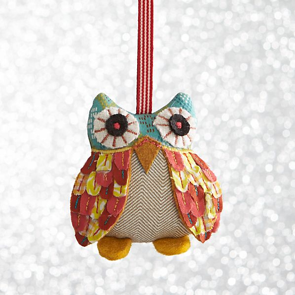 Calico Owl With Yellow Feet Ornament
