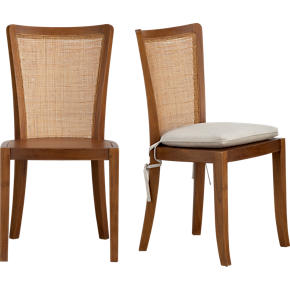 Calista Side Chair and Natural Cushion
