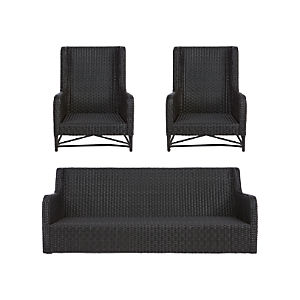 Calistoga 3-Piece Lounge Set with Wingback Lounge Chairs