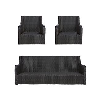 Calistoga 3-Piece Lounge Set with Swivel Lounge Chairs