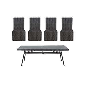 Calistoga 5-Piece Rectangular Dining Set
