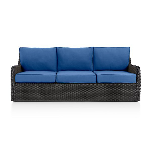 Calistoga Sofa with Sunbrella Cushion Mediterranean