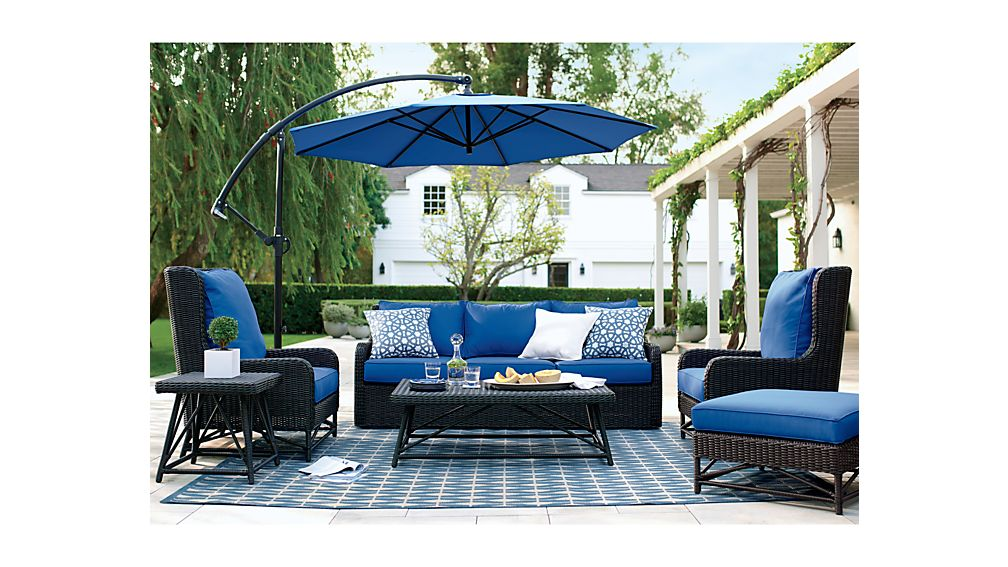 patio umbrella with base in patio umbrellas crate and barrel