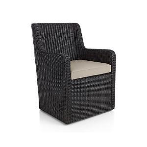 Calistoga Dining Arm Chair with Sunbrella ® Cushion