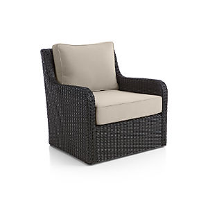 Calistoga Swivel Lounge Chair with Sunbrella ® Stone Cushion