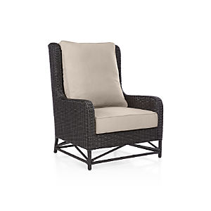 Calistoga Wingback Lounge Chair with Sunbrella ® Stone Cushion