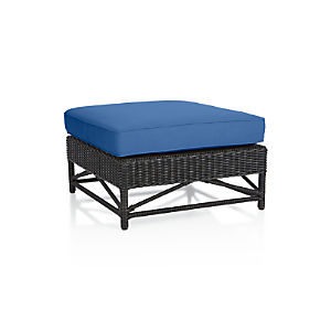 Calistoga Wingback Ottoman with Sunbrella ® Cushion