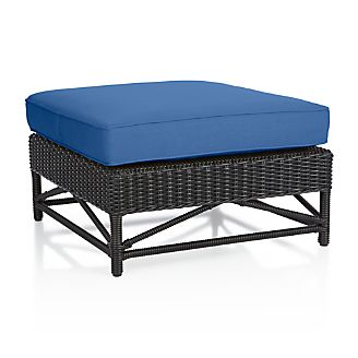 Calistoga Wingback Ottoman with Sunbrella ® Cushion