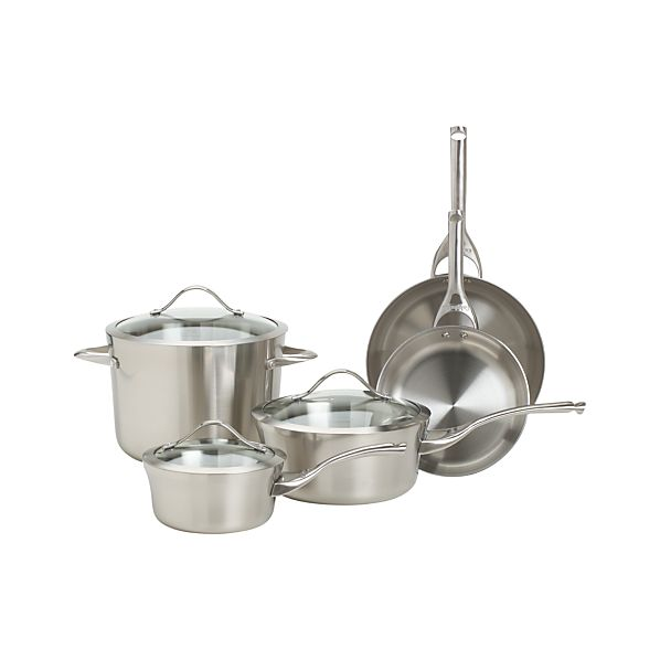 Calphalon Contemporary ™ Stainless 8-Piece Cookware Set with Double Bonus
