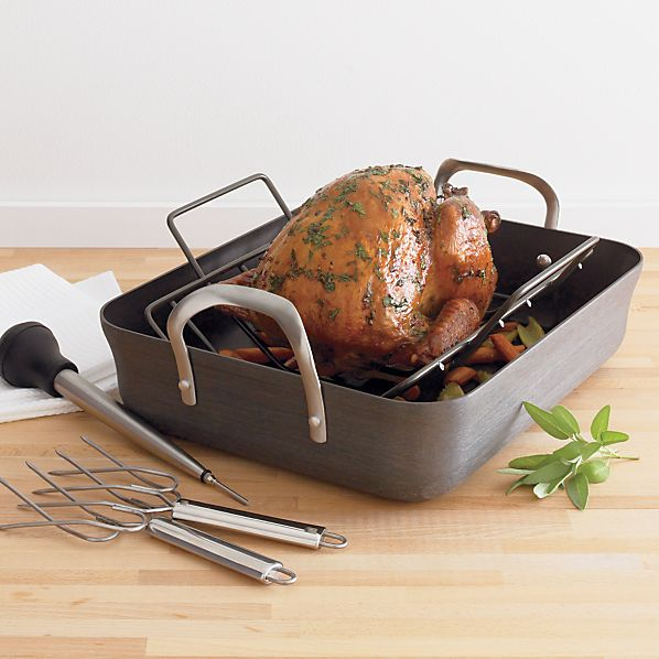 Calphalon Contemporary Nonstick Roaster With Lifters