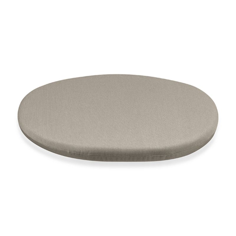 Round cushion in stone fits our Calypso chair perfectly, adding plush comfort in fade- and mildew-resistant Sunbrella acrylic.<br /><br /><NEWTAG/><ul><li>Solution-dyed Sunbrella® acrylic</li><li>100% urethane foam fill</li><li>Fade- and mildew-resistant fabric</li><li>Spot clean</li><li>Made in USA</li></ul>