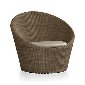 Calypso Mocha Swivel Lounge Chair with Sunbrella® Stone Cushion