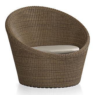 Calypso Mocha Swivel Lounge Chair with Sunbrella ® Cushion