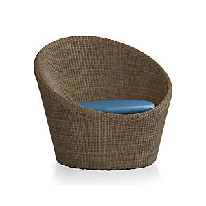 Calypso Mocha Swivel Lounge Chair with Sunbrella ® Cushion