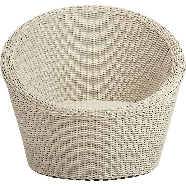Calypso White Swivel Lounge Chair