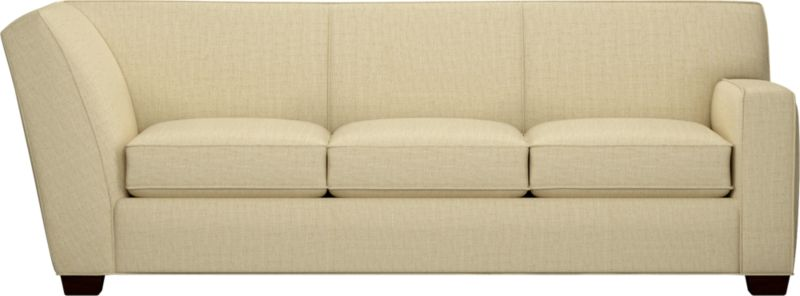 The classic modern sofa we've all been looking for—clean-lined but not too edgy, graceful but never fussy. Wide track arms frame plush, generous seat cushions that sink deep into a comfortably angled tight back. And the tailoring is impeccable, finished with self-welt detailing that follows every line. Hardwood legs are stained black walnut.<br /><br />After you place your order, we will send a fabric swatch via next day air for your final approval. We will contact you to verify both your receipt and approval of the fabric swatch before finalizing your order.<br /><br /><NEWTAG/><ul><li>Eco-friendly construction</li><li>Certified sustainable kiln-dried hardwood frame</li><li>Seat cushions are soy-based polyfoam wrapped in regenerated synthetic fiber and encased in downproof ticking</li><li>Tight back is filled with soy-based polyfoam and regenerated synthetic fibers</li><li>Sinuous wire spring suspension</li><li>Upholstered in polyester-cotton with self-welt detailing</li><li>Benchmade</li><li>See additional frame options below</li><li>Made in North Carolina, USA</li></ul>