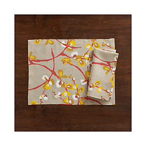 Camilla Linen Placemat and Napkin