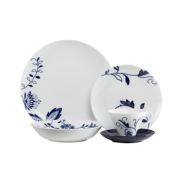 Camille 20-Piece Dinnerware Set with Low Bowl