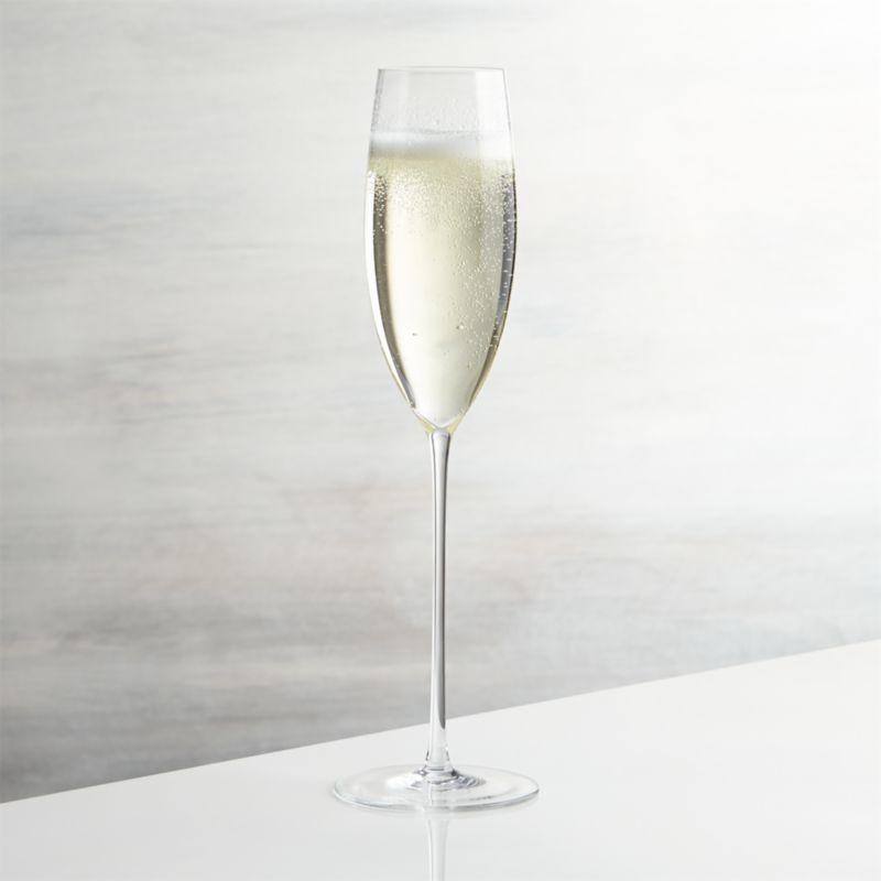 Handcrafted flute rises to the occasion on elongated slender stem to serve champagne and other sparkling drinks.<br /><br /><NEWTAG/><ul><li>Handmade glass</li><li>Fire-polished rim</li><li>Pulled stem</li><li>Hand wash</li><li>Made in Slovakia</li></ul>