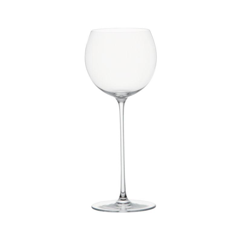 Handmade glass rises to the occasion on elongated slender stem with a bubble bowl that's perfect for cradling in hand to allow wines to open up and breathe.<br /><br /><NEWTAG/><ul><li>Handmade glass</li><li>Fire-polished rim</li><li>Pulled stem</li><li>Hand wash</li><li>Made in Slovakia</li></ul>
