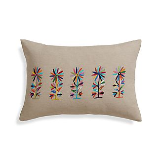 "Camino 18""x12"" Pillow with Feather-Down Insert"