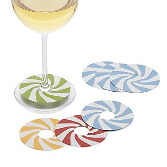 Candy Cane Wine Markers Set of 16