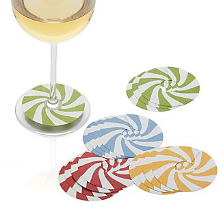 Set of 16 Candy Cane Wine Markers