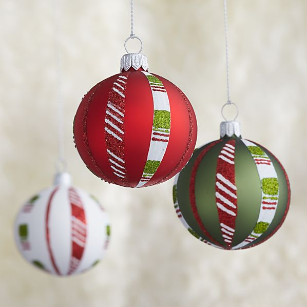Candy Stripe Ball Ornaments