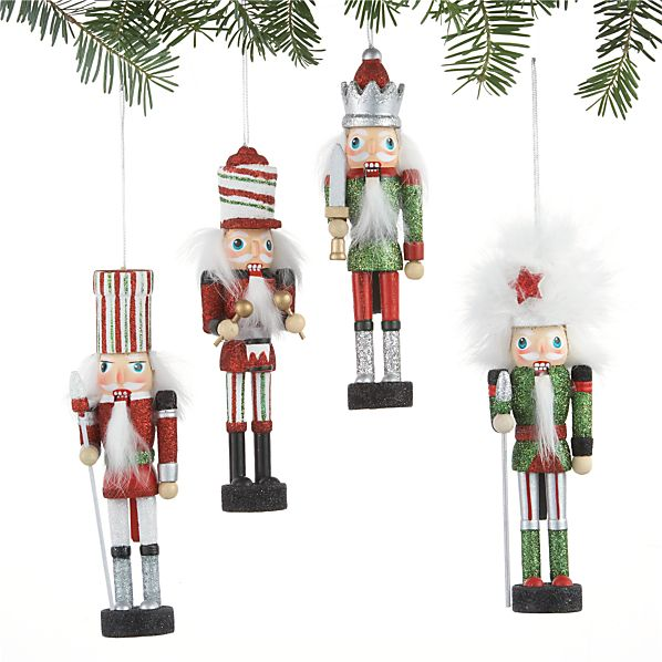 Set of 4 Candy Stripe Nutcrackers
