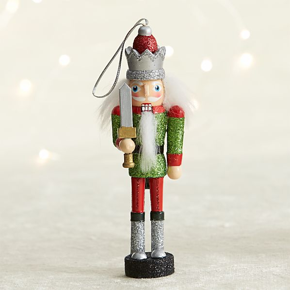 Green Watchman Candy Stripe Nutcracker Ornament