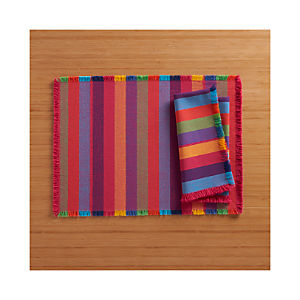 Cantina Stripe Placemat and Cantina Stripe Napkin