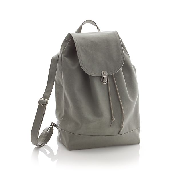 BAGGU Canvas Grey Backpack
