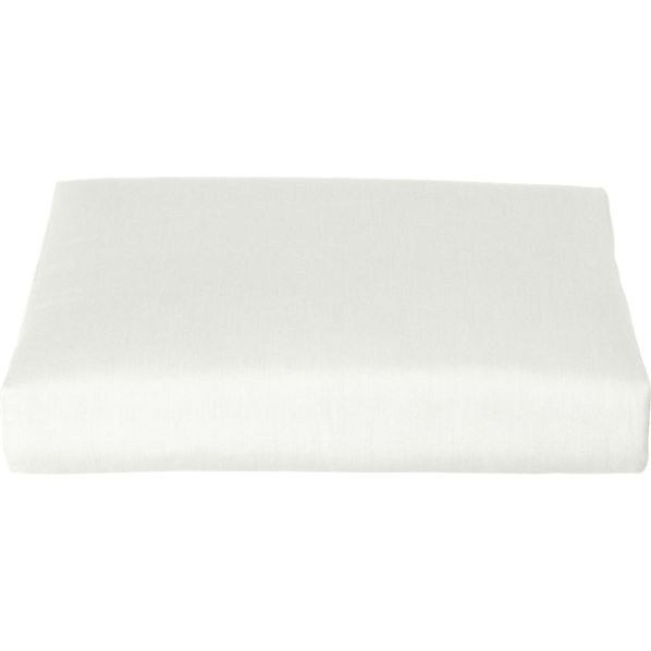 Canyon Sunbrella® White Sand Ottoman Cushion