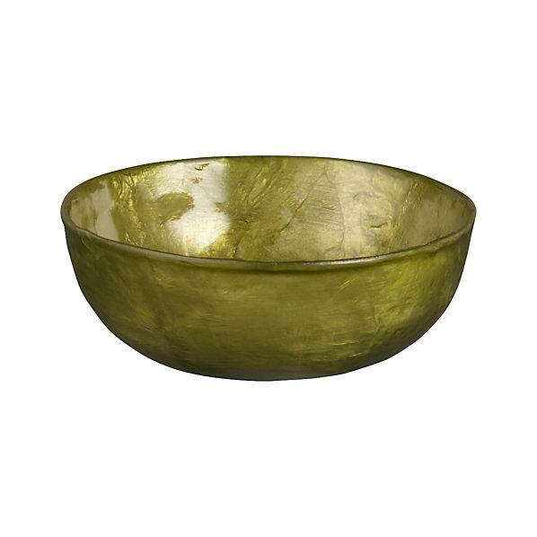 """Capiz Green 3"""" Round Dish"""