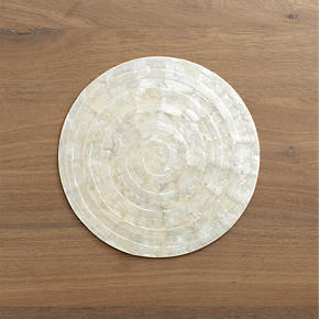 Capiz Shell Round Placemat