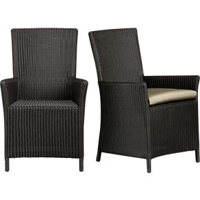 Captiva Java Arm Chair and Sunbrella® Stone Cushion