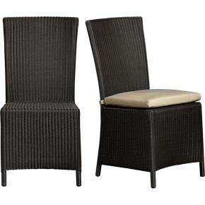 Captiva Java Side Chair and Sunbrella® Stone Cushion