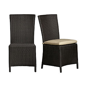 Captiva Java Side Chair and Sunbrella ® Stone Cushion