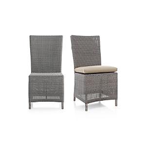 Captiva Grey Side Chair and Cushion