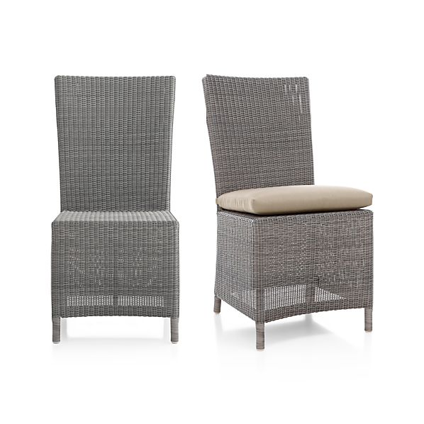 Captiva Grey Side Chair and Cushion