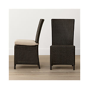 Captiva Java Side Chair and Stone Cushion