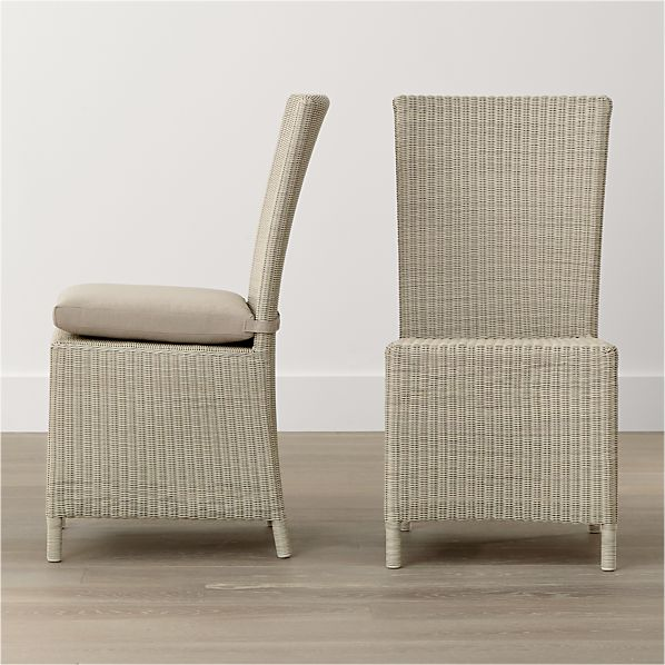 Captiva Seaside White Side Chair and Cushion
