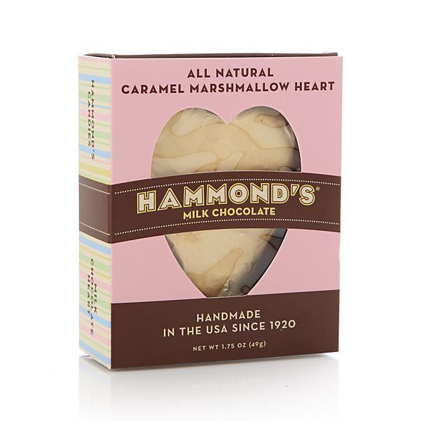 Caramel Marshmallow Foil Heart