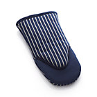 Carbon Blue Stripe Oven Mitt.