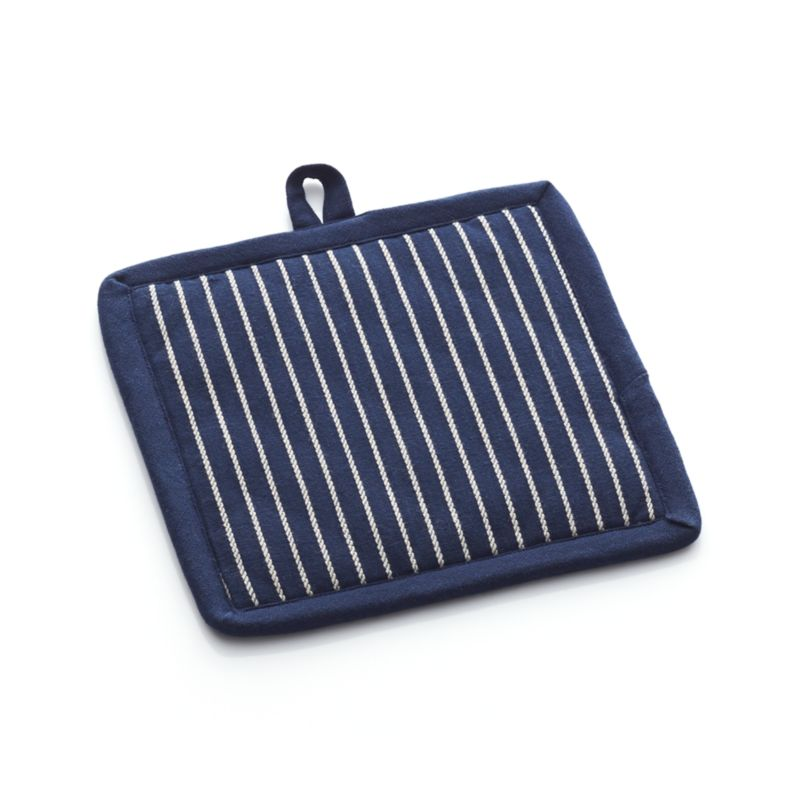 Carbon Blue Stripe Potholder
